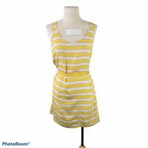 H&M Yellow & Pink Striped Mini Dress